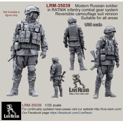 Russian Army soldier in modern infantry combat gear system, set 1