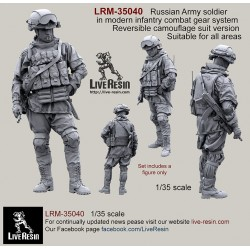Russian Army soldier in modern infantry combat gear system, set 2