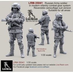 Russian Army soldier in modern infantry combat gear system, set 3