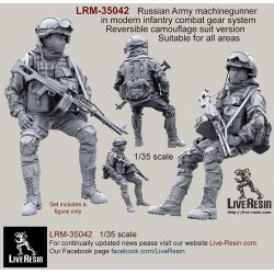Russian Army machinegunner in modern infantry combat gear system, set 4
