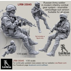 Russian Army soldier in modern infantry combat gear system, set 7