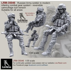 Russian Army soldier in modern infantry combat gear system, set 8