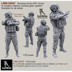 Russian Army APC driver in modern infantry combat gear system set 9
